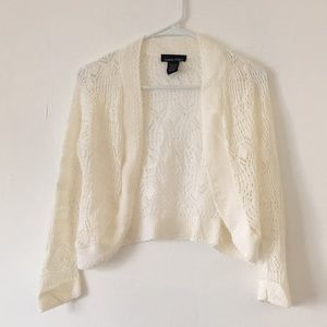 Sweater Project White Laced Top
